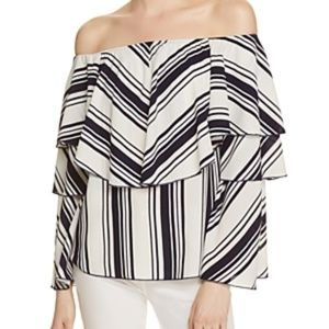 Vintage Havana Ruffle Off-the-Shoulder Top